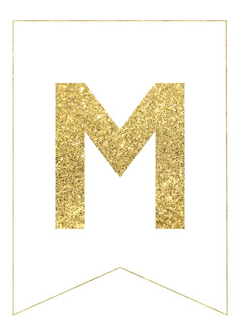 printable banner letters gold gold free printable banner letters paper trail design
