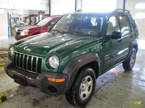 green jeep liberty 2004 timberline green pearl jeep liberty sport 4x4