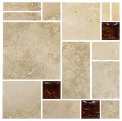 travertine brown glass mosaic kitchen backsplash tile 12 - Tile Sheets For Kitchen Backsplash