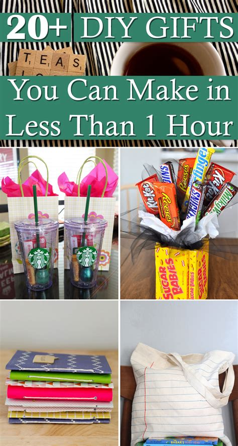 20 diy gifts you can make in less than 1 hour