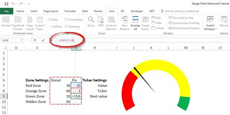 excel speedometer template chart excel tutorial step by step