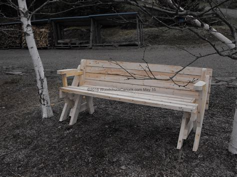 bench into picnic table plans 2 215 4 folding bench picnic table