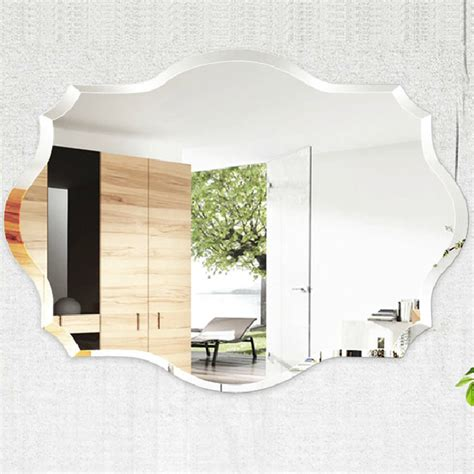 fashion bathroom ultra clear glass mirror rhombus wall