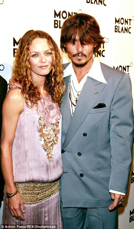 johnny depp vanessa paradis tattoo amber heard is pictured smiling hours after johnny depp s
