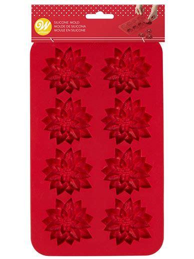betun para decorar galletas navideñas molde de silicon flor navide 241 a wilton 2115 8525 bake darling