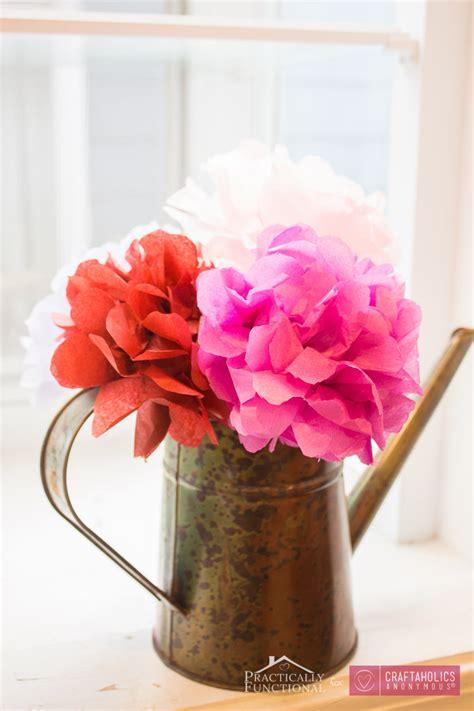 Beautiful Flower Tissue Paper craftaholics anonymous 174 diy tissue paper flowers tutorial