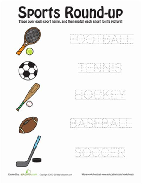 Play And Learn Vocabulary K1 sports up worksheet education
