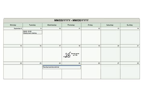 visio calendar template multi week planner u s units printable