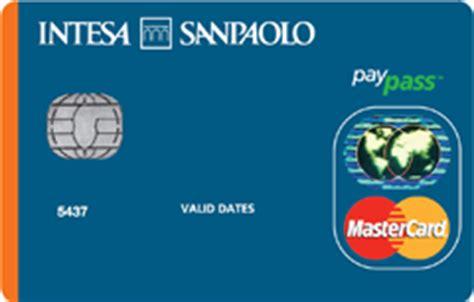 intesa carte di credito carta intesa san paolo a saldo a rate mista sicura
