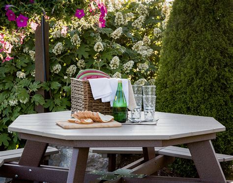 octagon patio table plans octagon outdoor table awesome octagon picnic table with