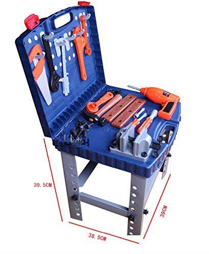 boys work bench 69pc kids work bench tool box kit construction set toy diy