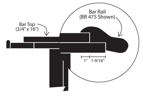 Bar Top Size by Bar Rail Sle Pack Hardwoods Incorporated Hardwoods