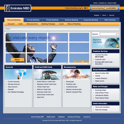 emirates nbd online what color is your money showcase of bank websites