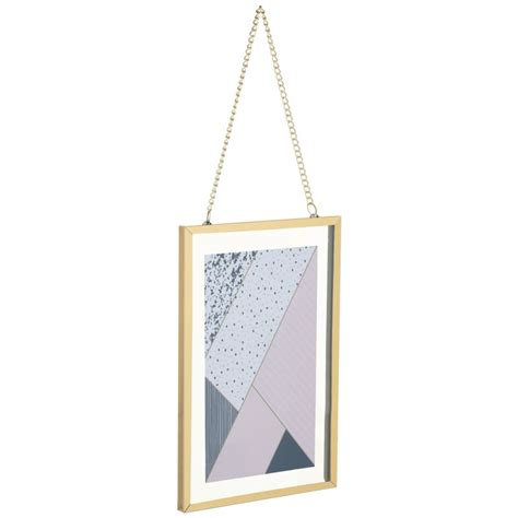 gold hanging picture frame    home accessories bm
