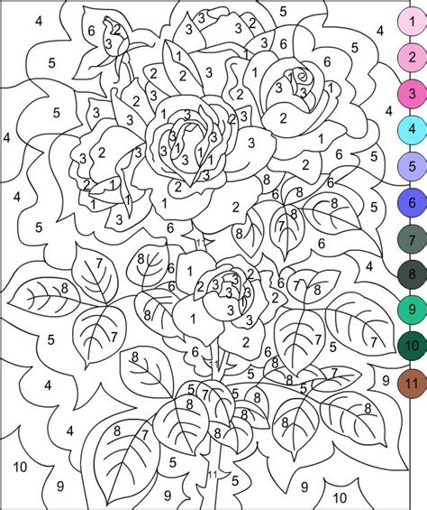 free color by number for adults s free coloring pages color by number color by