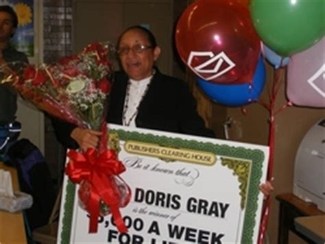Publishers Clearing House Front Page - teacher overcome as she wins 5 000 a week for life in front of students