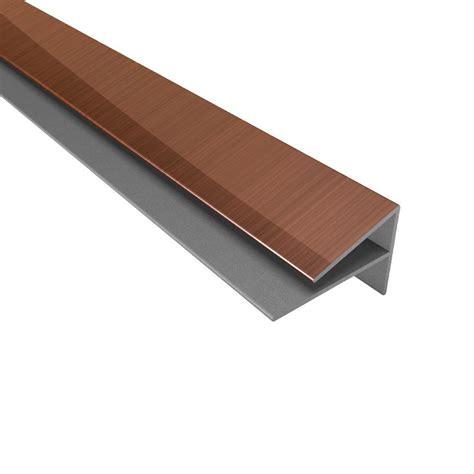 Home Depot Kitchen Tile Backsplash Fasade 4 Ft Large Profile Outside Corner Trim In Polished