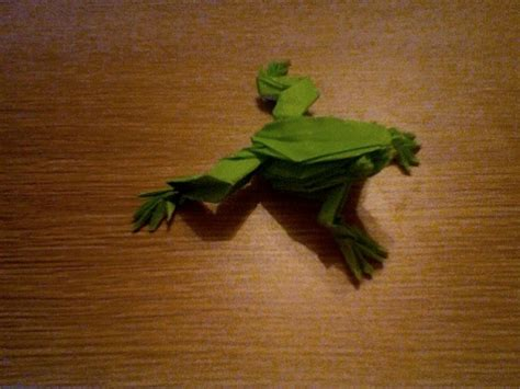 tree frog by robert lang 12 quot kami folded in 2007