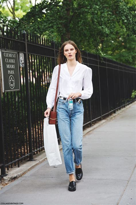 boyfriend and loafers tilda lindstam at nyfw day 5 september 2014 duty