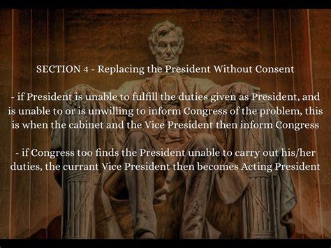 25th amendment section 4 the 25th amendment by kiana wright