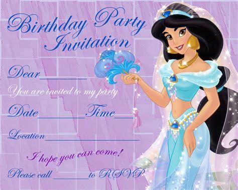 printable jasmine invitations free printable princess jasmine birthday invitation