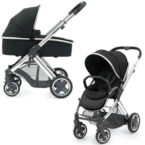 Stroller Babystyle Oyster 2 Babystyle Oyster 2 Mirror Pushchair Carrycot Black