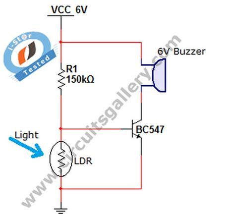 simple ldr circuit diagram simple circuit diagram home security alarm system using