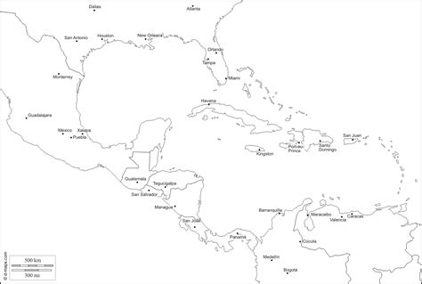 map outline of central america central america blank map besttabletfor me