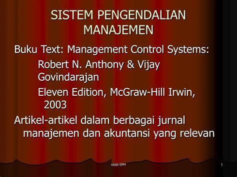Buku Sistem Pengendalian Manajemen ppt sistem pengendalian manajemen powerpoint presentation id 6703596