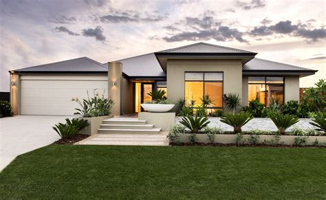 front elevation modern house front single story rear 2 the blanchett stunning elevation with elevated feature