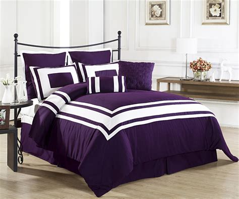 white and purple comforter sets dark purple bedding home ideas