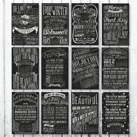 typography 2015 calendar 17 best images about 2015 quotable chalkboard typography