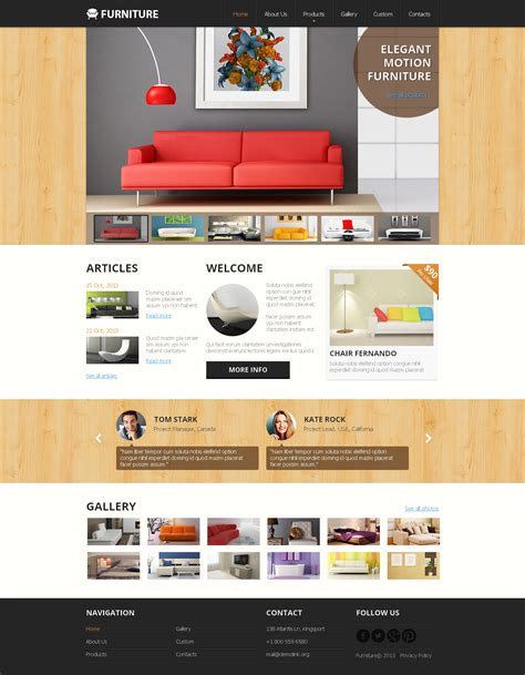 Furniture Website Templates Free Furniture Responsive Website Template 47895