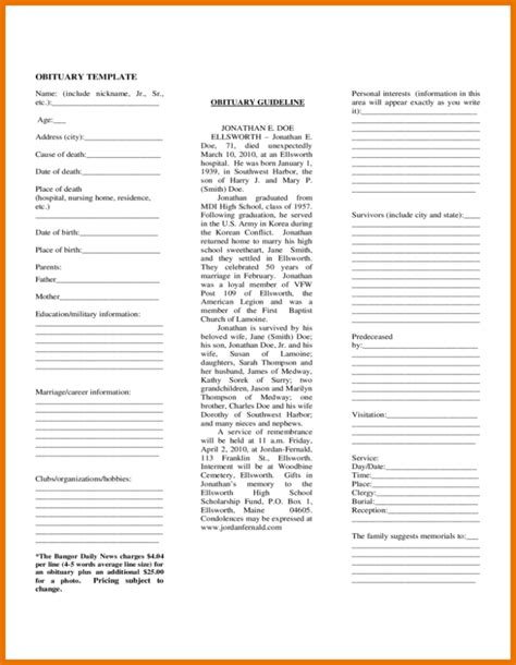 obituary template newspaper obituary template pictures to pin on