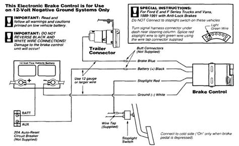typical vehicle trailer brake wiring diagram