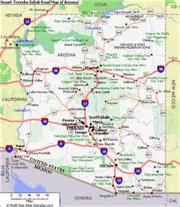 map of arizona travel map vacations travelsfinders