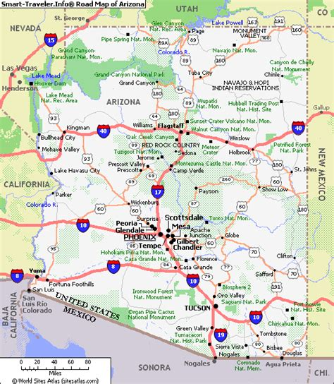 of arizona map map of arizona travel map vacations travelsfinders