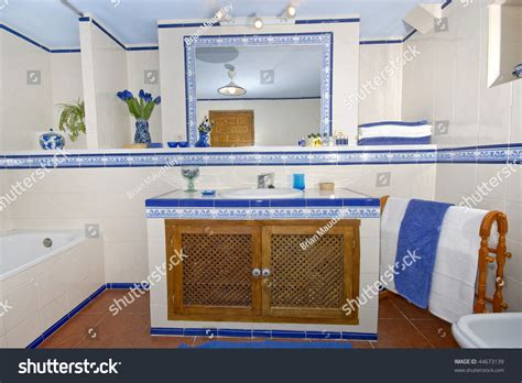 bathroom song in spanish rustic spanish country style bathroom white stock photo 44673139 shutterstock