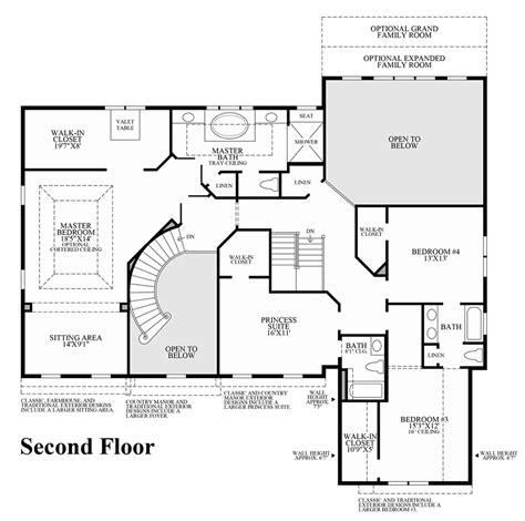 second floor floor plans estates at bamm hollow the chlain home design