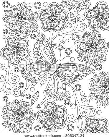 Display Book Sheet 20 Flower M0100 flower coloring page stock vector 305347124