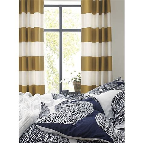 navy and gold curtains alston ivory gold curtains bed linens crate and barrel