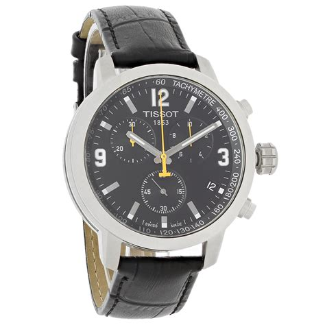 Tissot T1 Prc 200 Silver Black tissot prc 200 mens swiss quartz chronograph t055