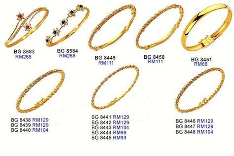 Gelang Tangan Bangle barang kemas gelang tangan bangle