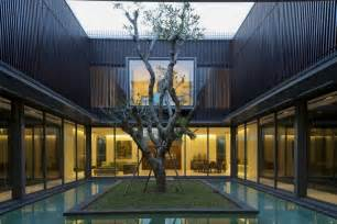 Bench Singapore Furniture Modern House With Water Surrounded Courtyard In The Center