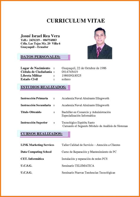 Cv Word by Curriculum Vitae Word Firmakoek