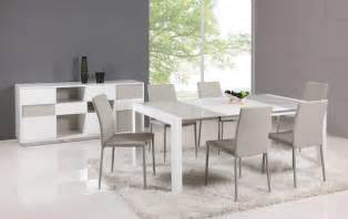 Contemporary Kitchen Tables Extendable Glass Top Leather Dining Table And Chair Sets