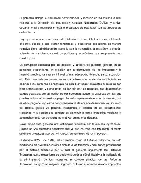 conclusion de impuestos estatales y municipales ensayos y ensayo impacto de los impuesto en colombia