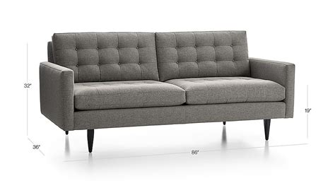Petrie Sofa Crate And Barrel by Petrie Mid Century Sofa Crate And Barrel