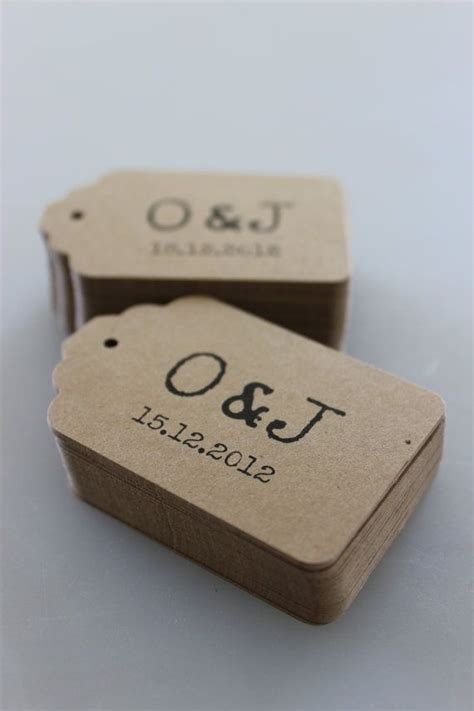 Tags For Handmade Items - personalized tags for favors or price tags kraft tags