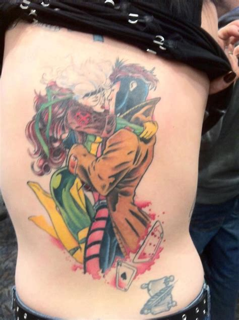 rogue tattoo rogue and gambit ink and piercings tattoos